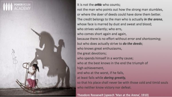 Daring greatly…