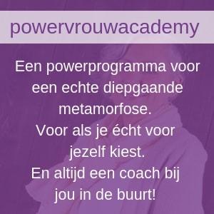 Het PowervrouwAcademy halfjaarprogamma of mentorprogramma